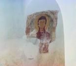 Стенная живопись в Церкви Св. Георгия. Мученица Мария. Фотография С.М.Прокудина-Горского. 1909. Сейчас от этого лика осталось только мутное пятно