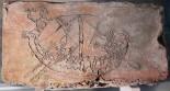 Детский рисунок на кирпиче 1352 года. Волотово поле