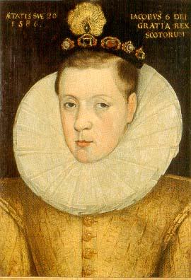 Яков VI в возрасте 20 лет. 1586