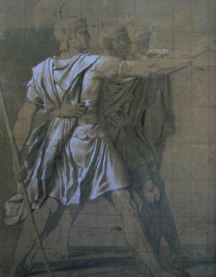 "Жак Луи Давид. Эскиз к картине ""Клятва Горациев"". 1784"