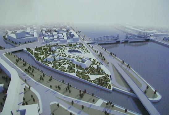Охтинский мыс. Фото с конкурса студенческих архитектурных проектов