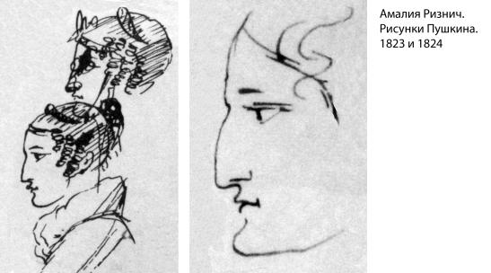 Амалия Ризнич. Рисунки Пушкина. 1823 и 1824