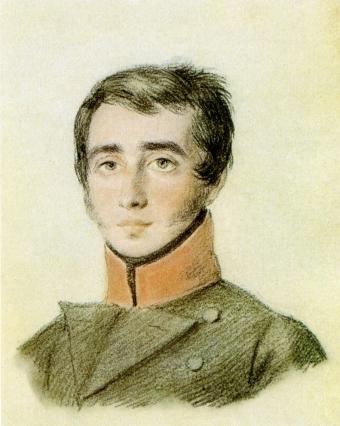 Владимир Дмитриевич Вольховский. Работа неизвестного художника. 1816 или 1817