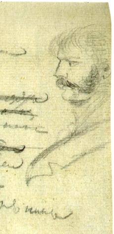 Константин Данзас. Рисунок Пушкина. ПД 832. Л. 41 об. 1823