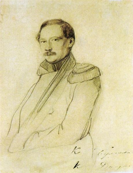 Константин Карлович Данзас. Работа неизвестного художника. Около 1836
