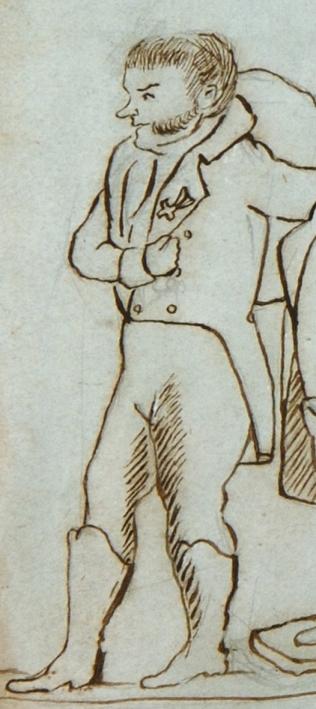 А.П.Куницын. С лицейской карикатуры Алексея Илличевского. 1816