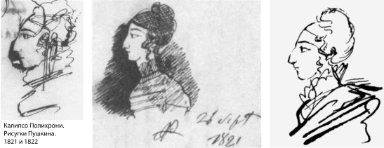 Три пушкинских портрета Калипсо Полихрони. 1821 и 1822