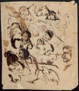 Рисунки на конверте из Тригорского. Лето 1826