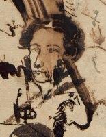 Автопортрет на конверти из Тригорского. Лето 1826