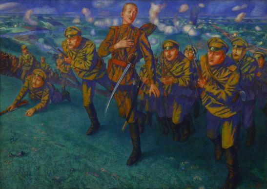 Кузьма-Петров-Водкин-картина-На-линии-огня-1916