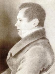 Пущин в 1825 гравюра ДМСоболевского