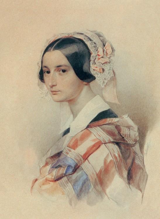 А. О.Смирнова-Россет. Акварель П. Ф. Соколова. 1835