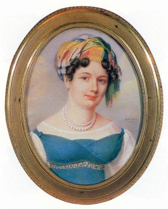 Жан Анри Беннер. Портрет Екатерины Карамзиной. 1817