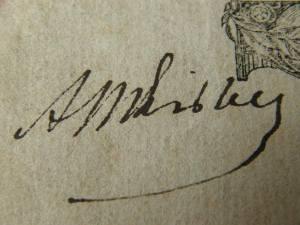 Подпись Мицкевича