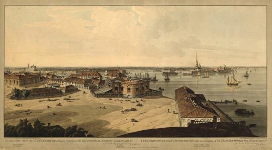 Стрелка Васильевского острова в 1805–1807 годах