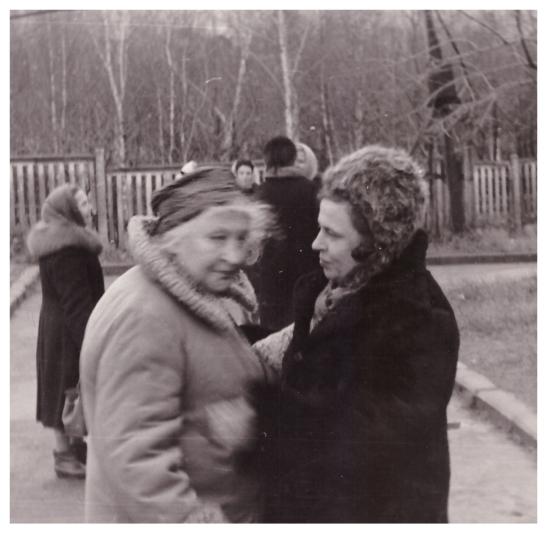 Варвара Васильевна и Наташа Лейтейзены Москва, 12.11.1969 г..