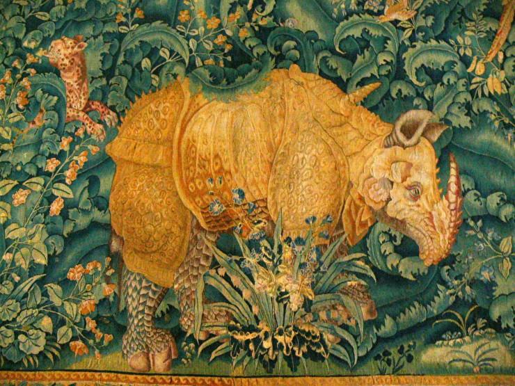 Носорог Фландрия 1550 Замок Кронборг